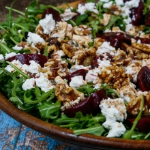 Beetroot, Rocket, Walnuts, Feta and a Honey Balsamic Dressing