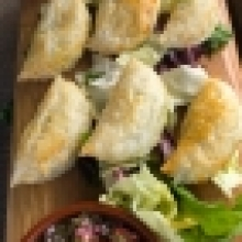 Mini Veggie Empanadas with Chimmichurri Dipper