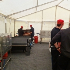 How to Roast 17 Hogs and Successfully Feed 2000 Rugby Fans!